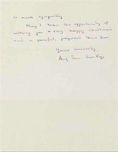 Aung San Suu Kyi's Letter